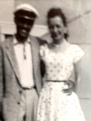 Cleo Carr and his wife in Atlantic City in 1955. Note