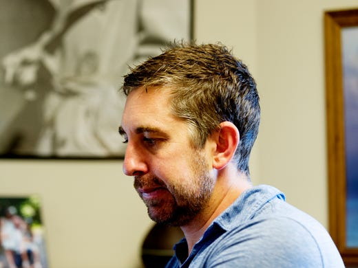 Jason Hubbard works in his office at the Upstart Knoxville