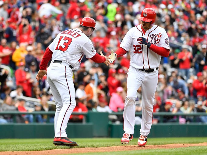 Apr 29, 2018; Washington, DC, USA; Washington Nationals