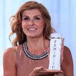 """Connie Britton shares her """"hair secret"""" in a new YouTube video for the #AskHerMore campaign."""