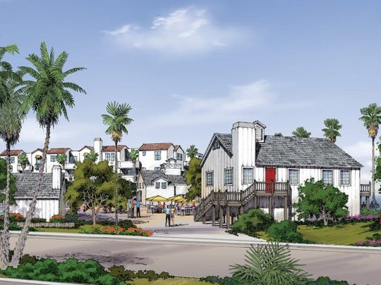 CONTRIBUTED IMAGE This rendering shows the developer's vision for a residential and commercial development at Fisherman's Wharf at Channel Islands Harbor.
