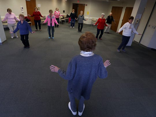 Tai Chi Chih instructor Margaret O'Connor leads the