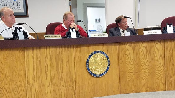 Warrick County Commissioners Don Williams and Rick