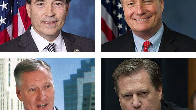 Four Ohio Republicans in Congress, clockwise from top left, Rep. Troy Balderson of Zanesville, Rep. Dave Joyce of Geauga County, Rep. Mike Turner of Dayton and Rep. Steve Stivers of Columbus, joined House Democrats in voting for a measure Saturday providing an additional $25 billion to the U.S. Postal Service.