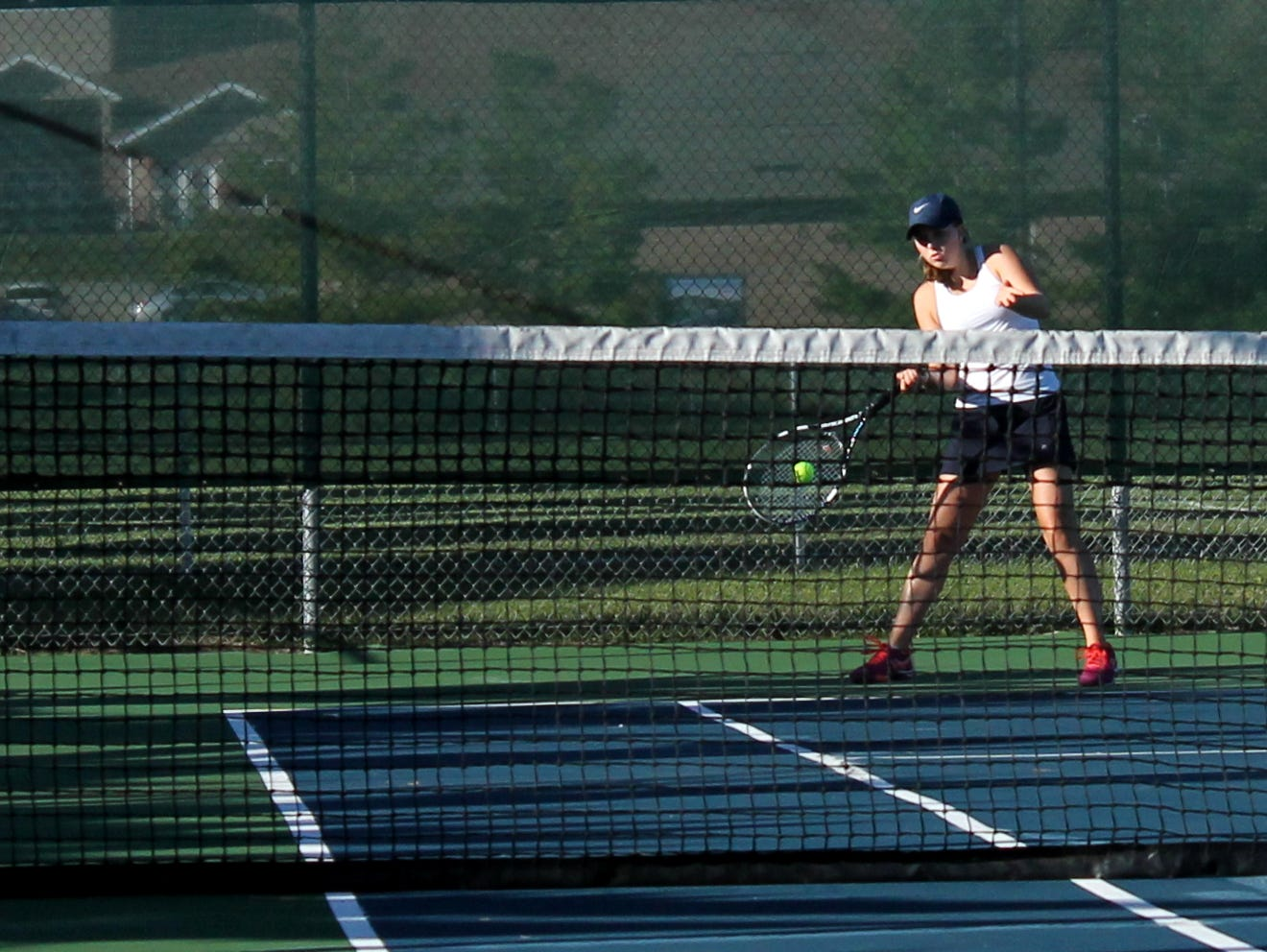 Springfield Catholic two-time all-state tennis player Anna Rader.