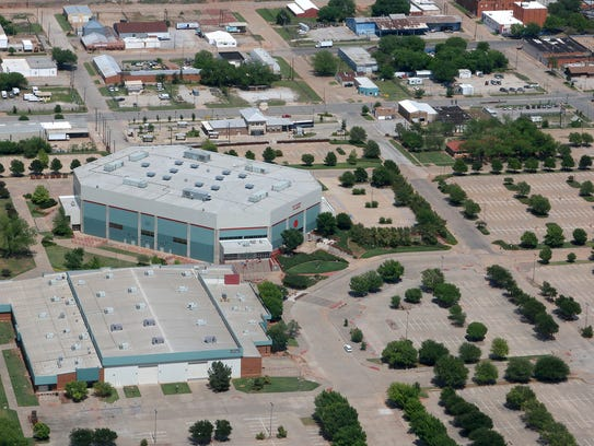An aerial view of the Multi-Purpose Events Center taken on May 6. The city of Wichita Falls is in the process of securing funding for a $30 million full-service hotel plus an $8-million conference center.