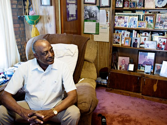 Thomas Earl Crossley, father of Brett Crossley's, sits in his house on Monday, Feb. 20, 2017, in Louisville, Ala. Brett Crossley was murdered in August of 1998 at 265 Park Town Way in Montgomery, Ala., his case has not been solved.