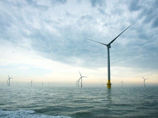 Wind turbines belonging to energy company Vattenfall