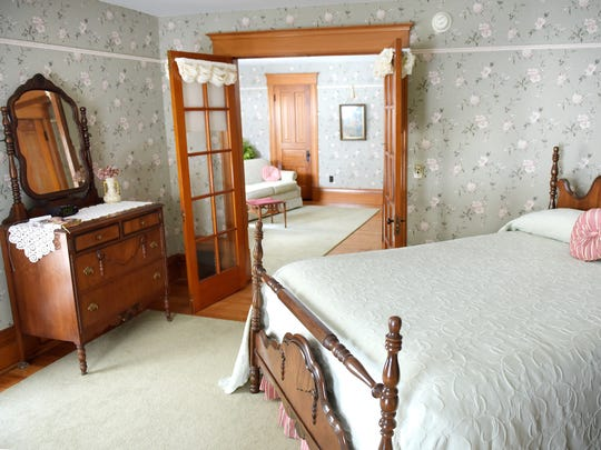 The bedroom of the Spicerville suite at the Legend