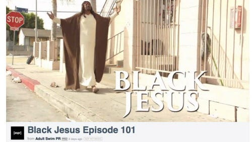 Screengrab from Vimeo of the new 'Black Jesus' comedy.