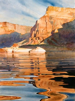 """Morning Light II,"" watercolor by David Drummond, part of the ""Paint the Parks"" national touring exhibit on display from July 30 to Sept. 13 at the Miller Art Museum."