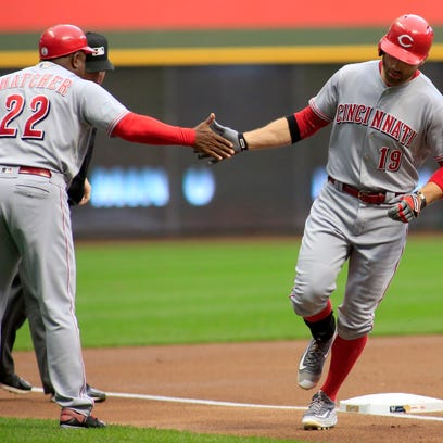 Reds end losing skid with 6-1 win vs. Brewers