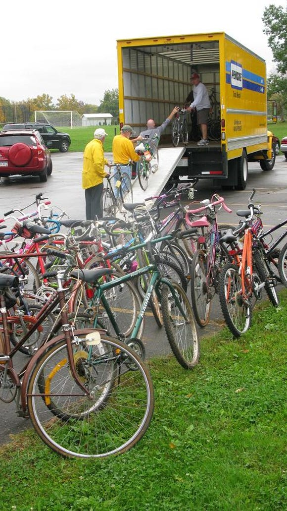 The volunteers at R Community Bikes are going to be busy cleaning up and fixing all these bikes. A few of the bikes were in such good condition that they will most likely be sold to help pay for the organization's expenses.
