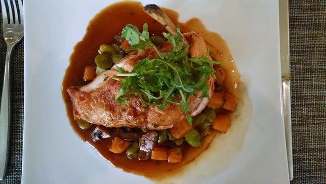 Jadori Chicken at Two Bunch Palms' Essence restaurant in Desert Hot Springs.