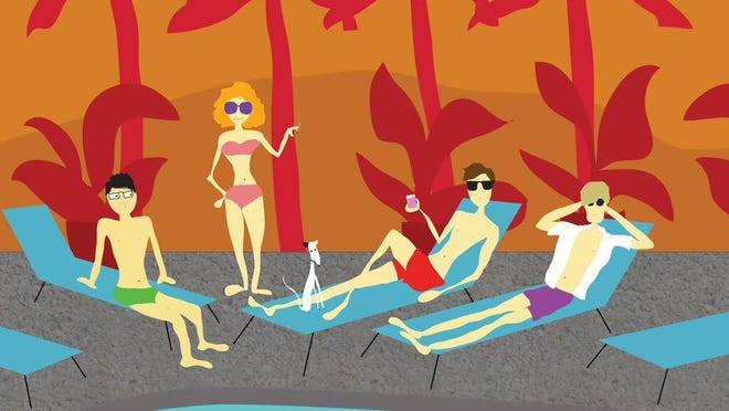 """The animated short, """"Somewhere in Palm Springs,"""" is featured in the Gay!La program, """"Out — and Definitely Out There,"""" screening at 8 p.m. Thursday"""