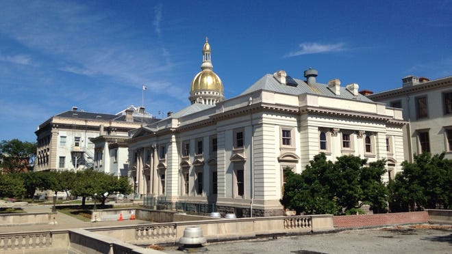 The Statehouse in Trenton, N.J., seen in September 2014. (Michael Symons/Asbury Park Press)