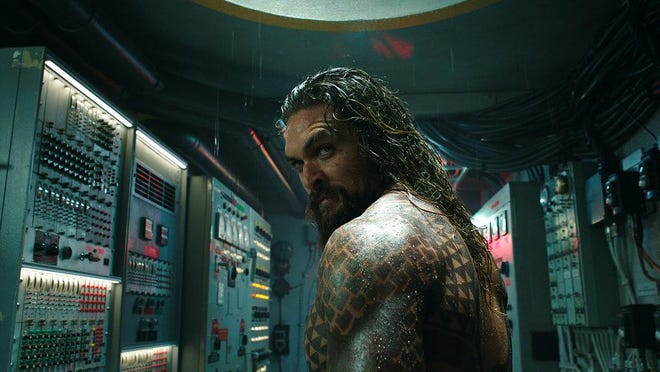 """Jason Momoa stars in """"Aquaman."""" The movie is playing at Regal West Manchester Stadium 13, Frank Theatres Queensgate Stadium 13 and R/C Hanover Movies."""