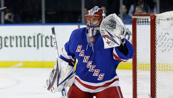 New York Rangers goaltender Igor Shesterkin (31) during the third period of an NHL hockey game against the Toronto Maple Leafs Wednesday, Feb. 5, 2020, in New York. The Rangers won 5-3.