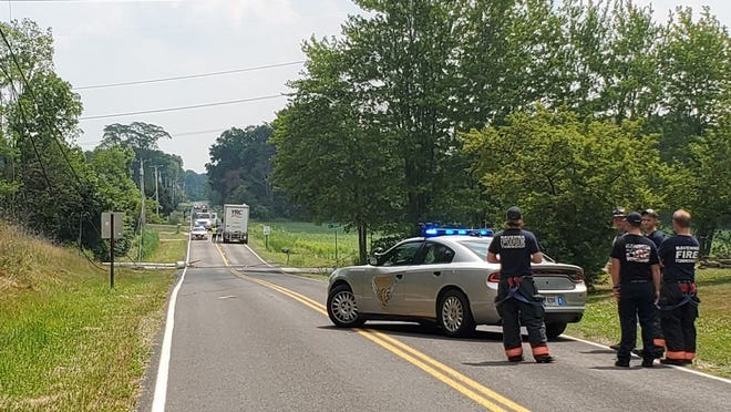 The power went out on Hayes Road in Ravenna Township on Friday morning after a semi struck a wire. Ravenna State Highway Patrol and the Ravenna Township Fire Department responded. No injuries were reported.