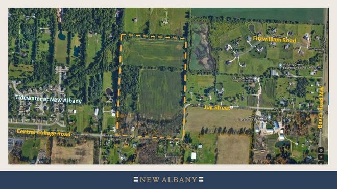 New Albany City Council has voted to annex Columbus-based Homewood Homes' 63.5 acres north of Central College Road and west of Jug Street from Plain Township.