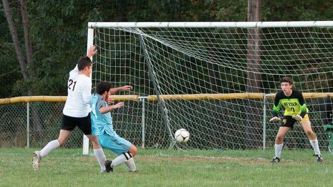 Frankfort goes for a goal against Keyser.