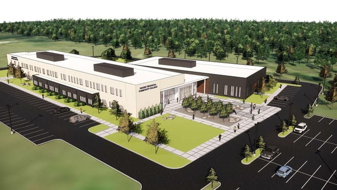 An artist rendering of the proposed Ozarks Technical Community College campus near Lake of the Ozarks. Credit: Submitted photo