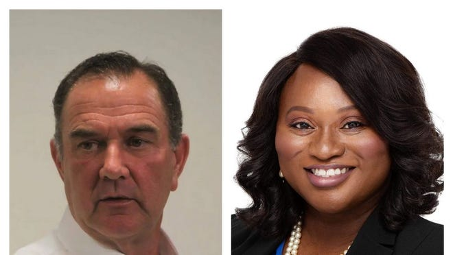 Republican incumbent, Mike Kehoe, and Democratic challenger, Alissia Canady.