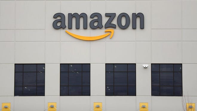 This Amazon DTW1 fulfillment center is shown in Romulus, Mich., April 1.