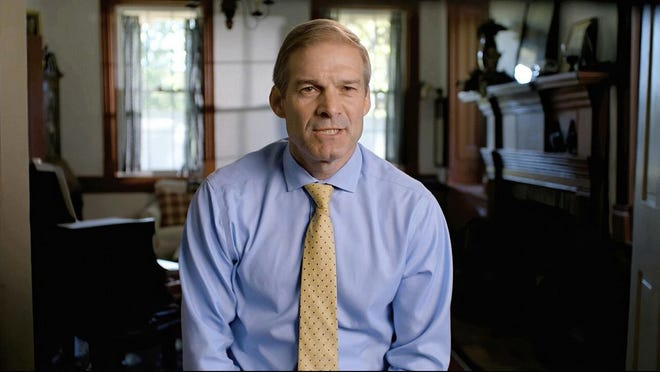In this image from pre-recorded video, Rep. Jim Jordan, R-Urbana, speaks at the 2020 Republican National Convention.