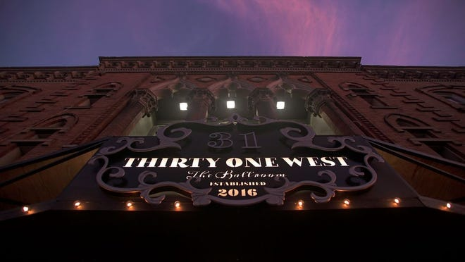 The marquee at Thirty One West in Newark