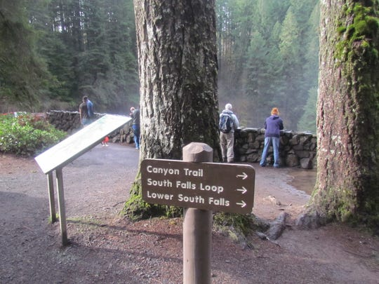 Silver Falls State Park visitors take in the South