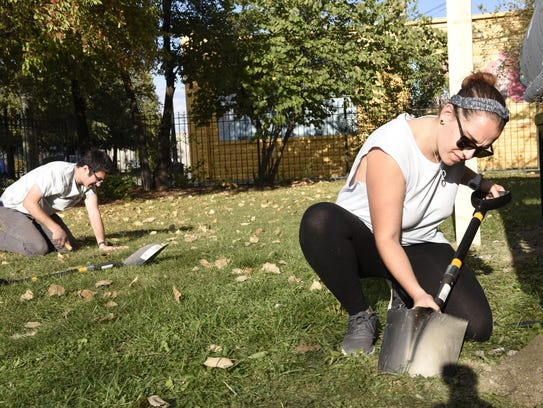 Staci Rosen, 22 and Aaron Cahen, 22 with Repair the