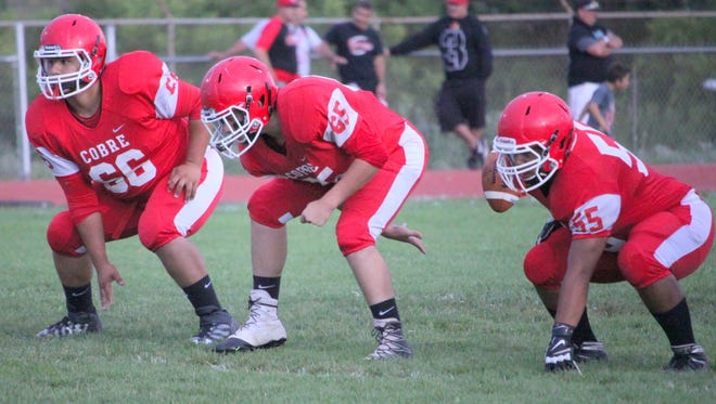The line will be changed around on both sides of the football for the Indians against the Elks for Friday's game.