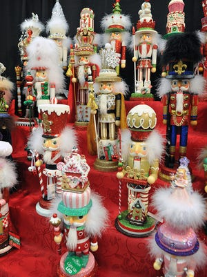 The Wichita Falls Ballet Theatre set up a display of holiday nutcrackers at Christmas Magic to promote their traditional holiday favorite, The Nutcracker.