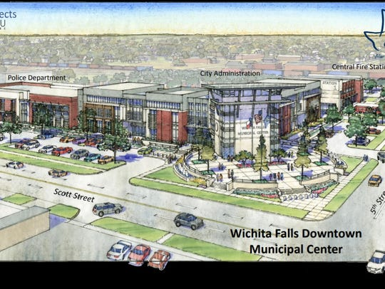 A rendering of the city's proposed Municipal Complex.