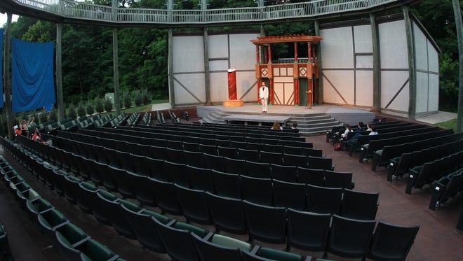 [File Photo] John William Watkins rehearses at the Riverside Theatre Stage on Tuesday, June 17, 2014. David Scrivner / Iowa City Press-Citizen