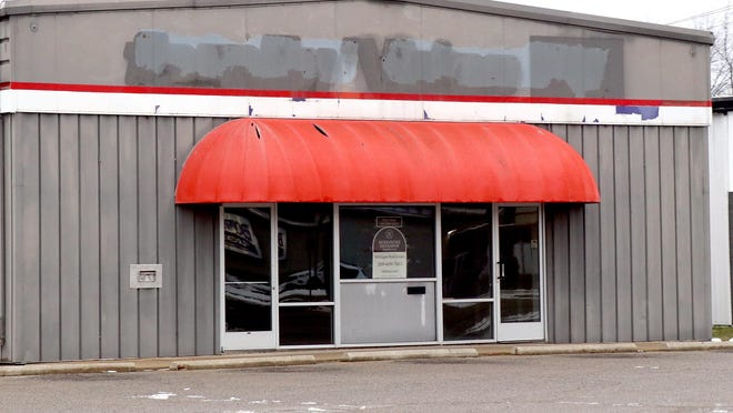 The former site of Family Video on South Centerville Road in Sturgis, shown Tuesday. The property is currently available for purchase. Highland Ventures announced it will begin to close its 250 remaining storefronts by mid-February.