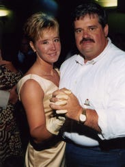 Photo provided Brandy Hall dances with her husband,