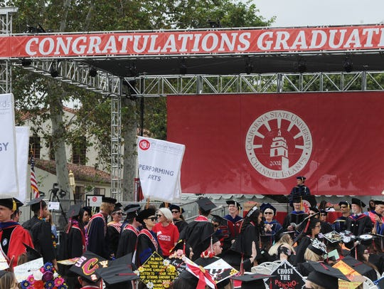 CSU Channel Islands held a commencement on the afternoon
