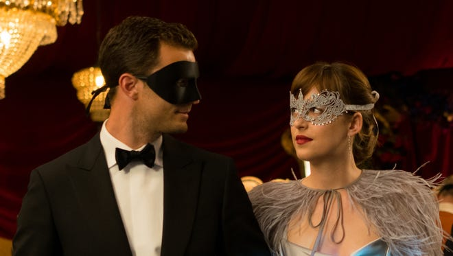 "Why the masks? Maybe Jamie Dornan and Dakota Johnson have seen the ""Fifty Shades Darker"" reviews."