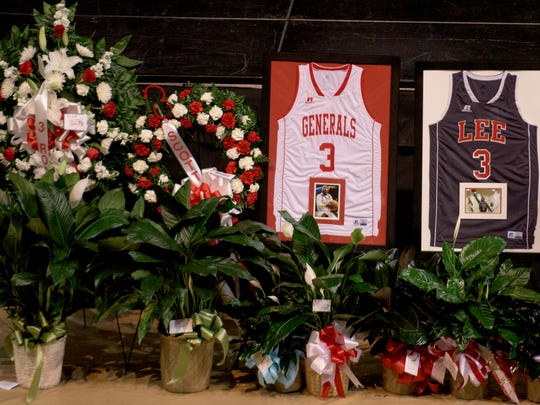 During the funeral services of Lee High School basketball player Rod Scott at the Acadome on the ASU campus in Montgomery, Ala. on Saturday March 12, 2016.