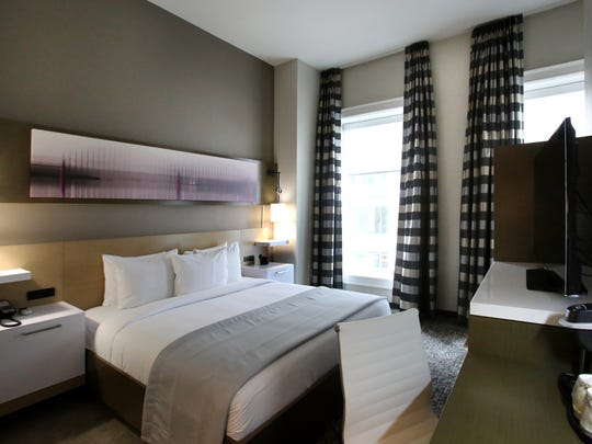 One of 58 rooms at the recently opened Hotel Napoleon,
