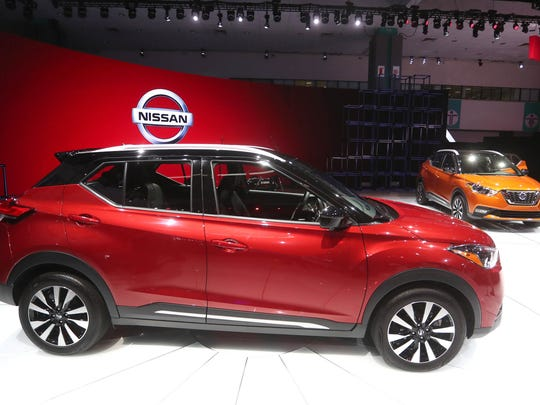 The 2018 Nissan Kicks is displayed at the LA Auto Show
