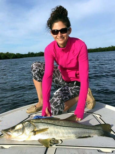 Gina Scibelli's 35-inch snook was one of several that