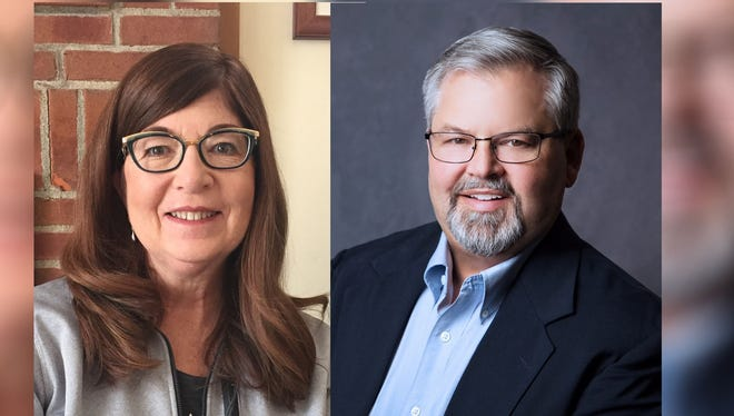 Lisa Reade, left, and Jeff Fix, right, are running for the Republican nomination for the Fairfield County Board of Commissioners.
