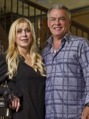 Abbey Feiler-Kober and husband Thomas Kober in their 31,000-square-foot Colts Neck mansion.