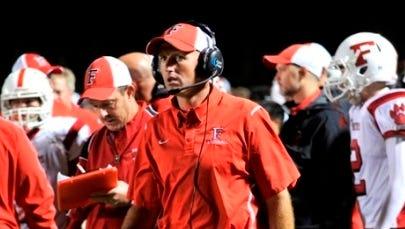 Franklin football coach Josh Brooks