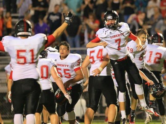 Pendleton lost to Liberty 7-6 at Pendleton High School in Pendleton.