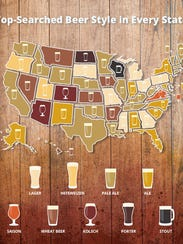 Wisconsinites googled stouts more often than any other
