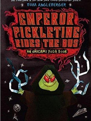 'Emperor Pickletine rides the Bus' by Tom Angleberger.